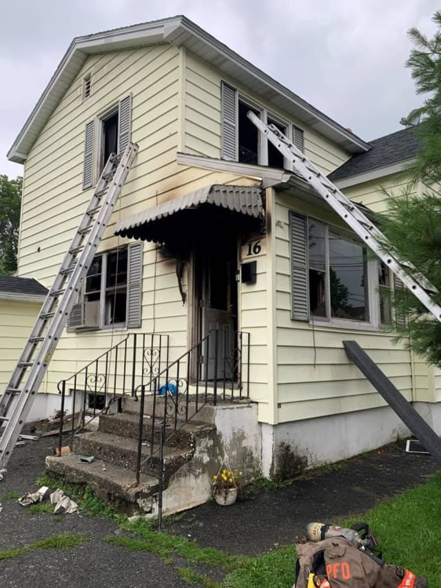 A family dog died during a house fire in Pittsfield.