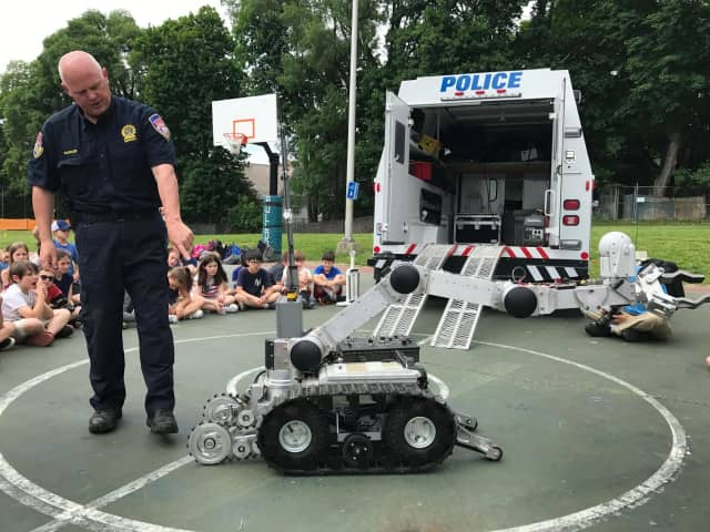 Westchester County Police Detective Thomas Barker demonstrated