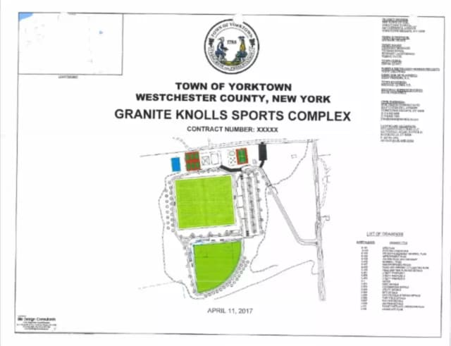 The propsoed Granite Knolls Sports Complex.