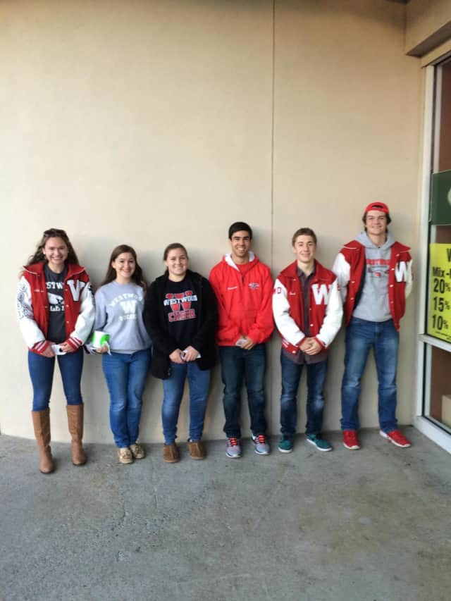 (Left to Rright) Ashley Grob, Maggie Minas, Molly Briguglio, Thomas Solimando, Jacob Buchner, and Christopher Harper participated in the Sticker Shock program.