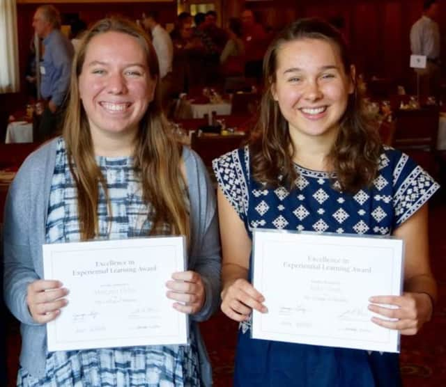 Meg Heller of Mahwah and Katie Stock received Excellence in Experiential Learning Awards from The College of Wooster in Ohio.