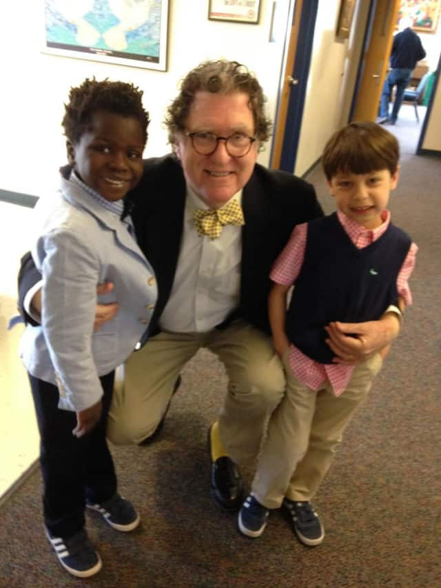 Jackson and Amaud with Principal James Dhyne