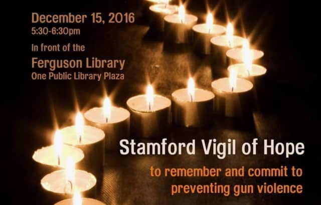 The fourth annual Stamford Vigil of Hope to End Gun Violence will be held Thursday.