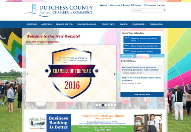 The Dutchess Country Regional Chamber of Commerce has unveiled its new website