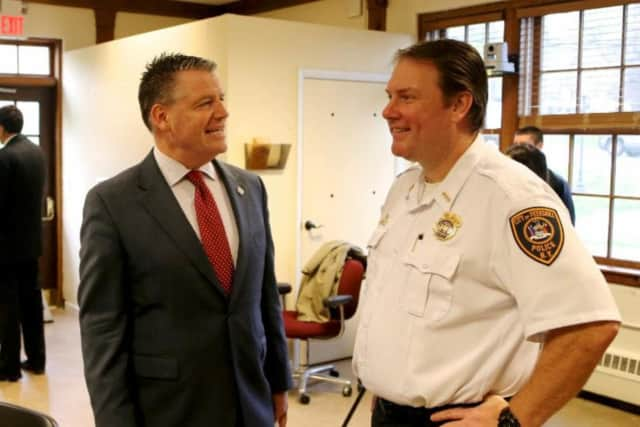 Sen. Terrence Murphy and Peekskill Police Chief Eric Johansen