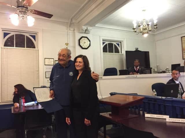 Dee Ann Ipp with Teaneck Councilman Henry Pruitt.