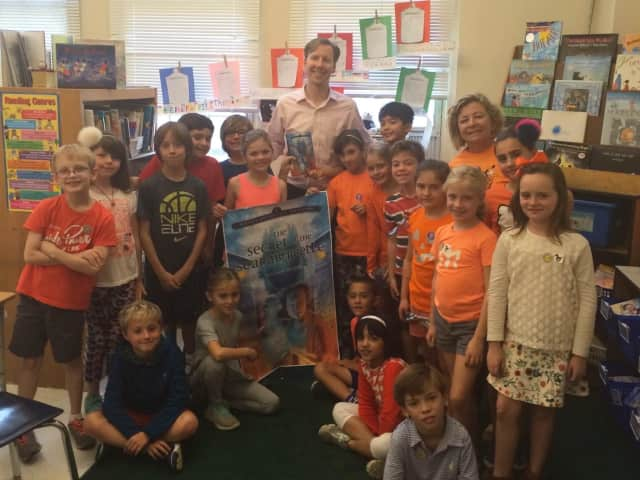 During a recent author visit with Bronxville Elementary School third-graders, Bronxville High School history teacher Bill Meyer read from his first book and discussed the mysteries of ancient Egypt.
