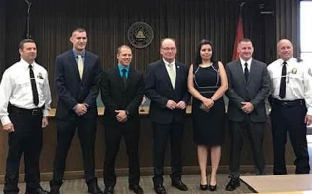 Four new police officers were recently sworn in as members of the City of Poughkeepsie Police Department.