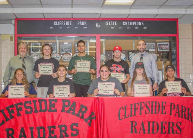 Here are the Cliffside Park student athletes who will also be playing in college, who recently signed letters of intent.