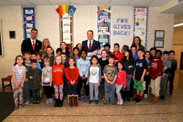 4th and 5th graders at Furnace Woods Elementary School made Valentines Day cards for vets.