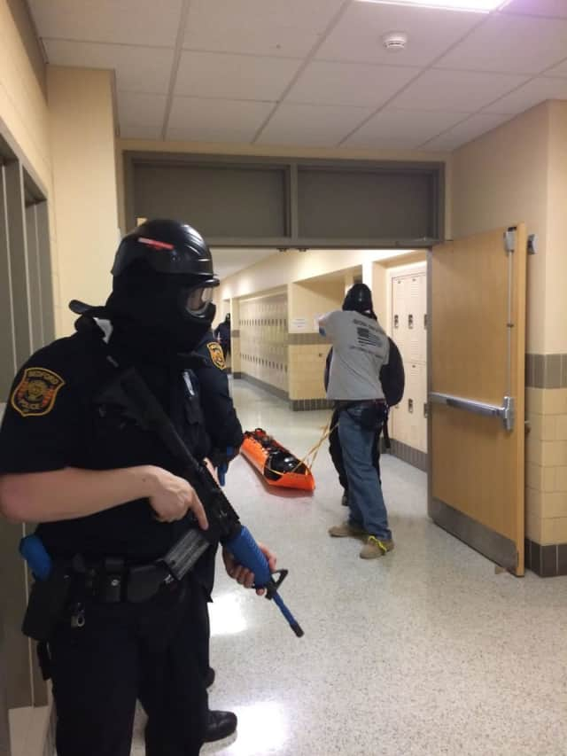 Bedford Police recently held an active shooter drill.