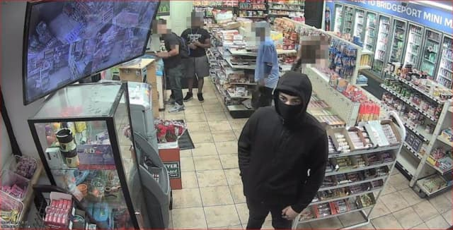 A man is wanted for robbing the Bridgeport Mini Mart last month.