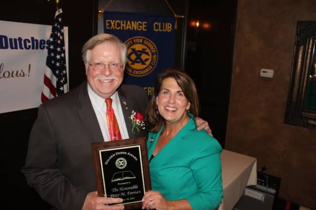 Peter Forman was honored by the Dutchess County Exchange. He is a judge for the Dutchess County Court in New York.