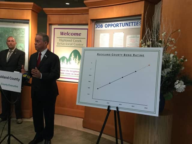 Rockland County Executive Ed Day explains the county's latest bond rating.