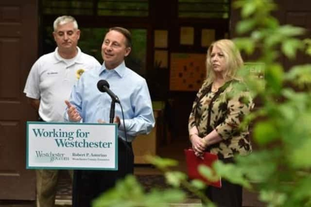 County Executive Rob Astorino at the Marshlands Conservancy in Rye.