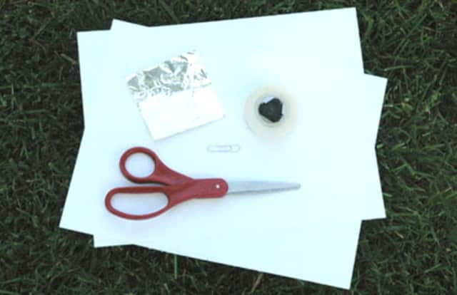 All you need is a shoebox, scissors, tape, aluminum foil and paper to make a pinhole camera to view the eclipse safely.