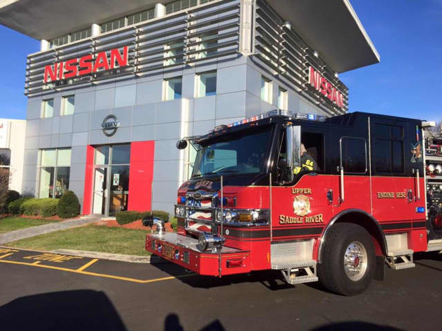 The Upper Saddle River Fire Department responded to a fire alarm at a Nissan dealership on Route 17 Tuesday morning.