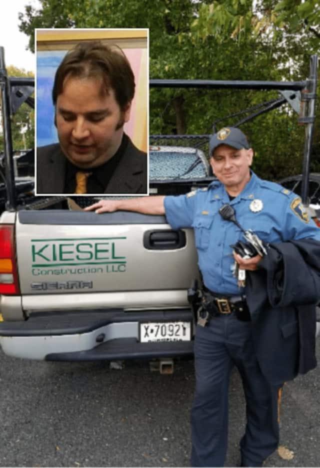 Lt. Daniel Urban with the pickup. INSET: Terence Kiesel
