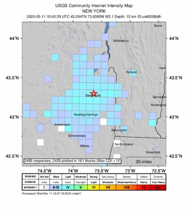 A 3.1 magnitude earthquake shook upstate New York.