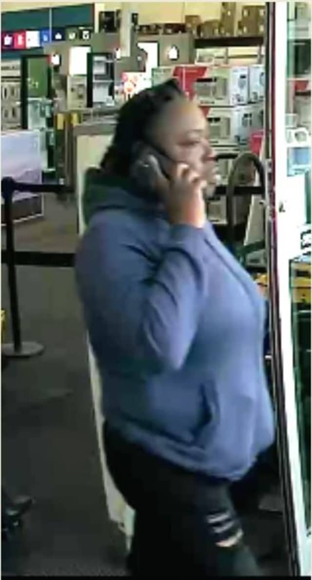 Surveillance video of the woman accused of stealing from Best Buy in Centereach