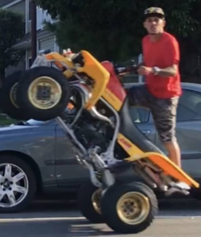 Suffolk County Crime Stoppers and Suffolk County Police First Precinct Crime Section officers are seeking the public's help to identify and locate a group of people who drove dirt bikes and ATVs recklessly earlier this week.