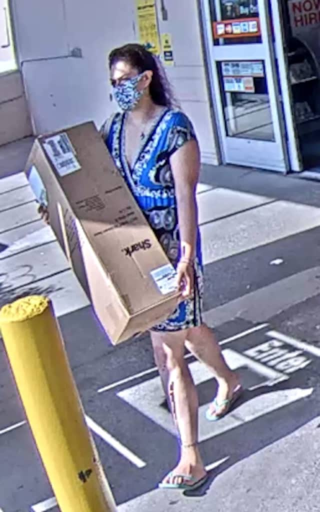A woman is wanted for stealing from Home Depot in Shirley.