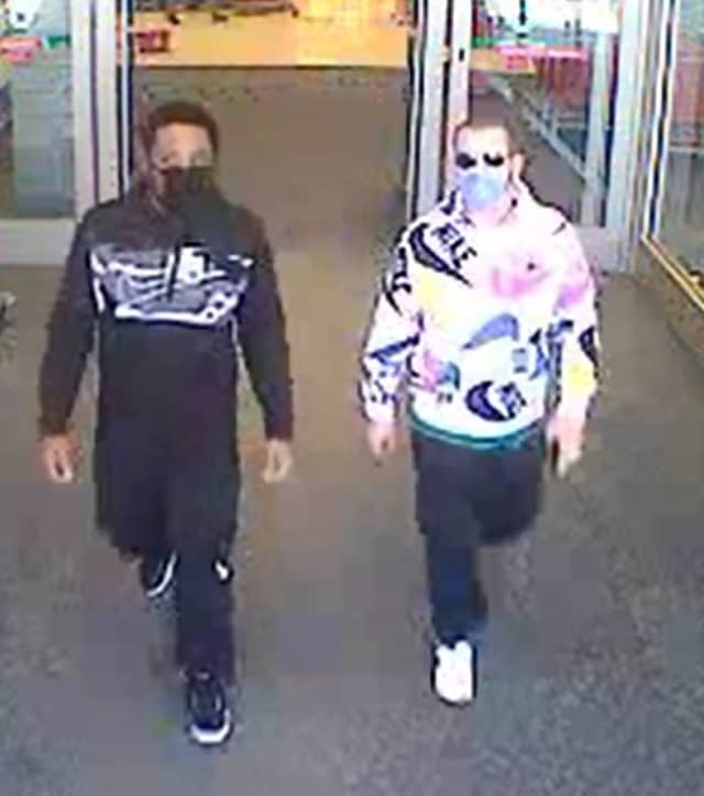 Two people are wanted after allegedly stealing from Target in Medford.