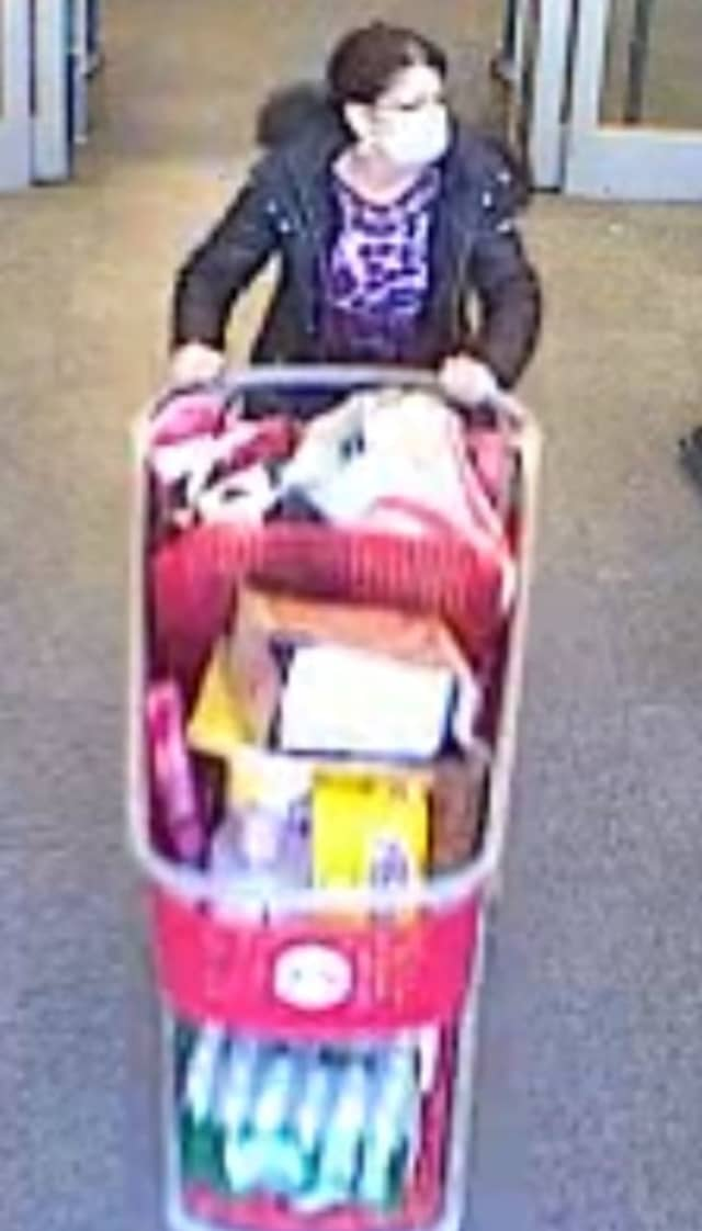 A woman is wanted for allegedly shoplifting at Target in Medford.