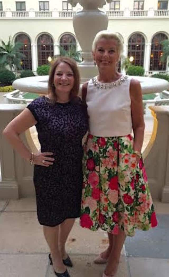 Therese Valvano, an associate real estate broker affiliated with the Coldwell Banker Residential Brokerage Dobbs Ferry office, meet Maureen Passerini, executive vice president of the Northeast and Eastern Seaboard Regions at the Elite Retreat.