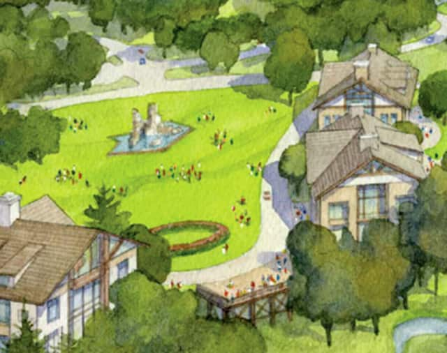 An artists rendering of the proposed Bellefield at Historic Hyde Park development.