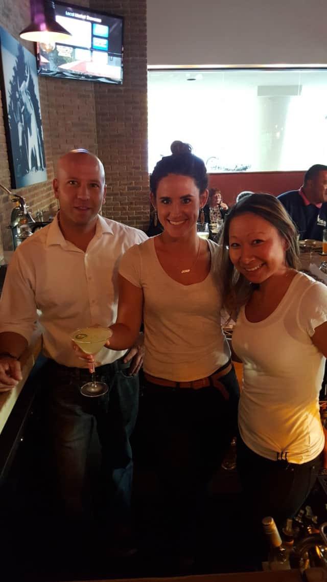 Left to right: Village Social Mixologists Nick Buzzetto, Kara Palen and Eunme Cho.