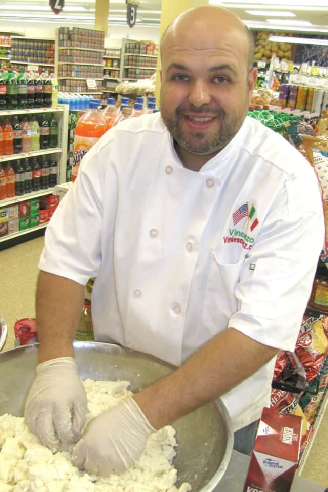 Vinnie Morelli of Lyndhurst makes mozzarella.