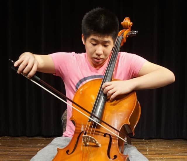 Cellist Taz Kim, a 9th grade orchestra student, is among 42 New Rochelle students selected for the All-County Elementary and Intermediate band, chorus, and orchestra concerts.