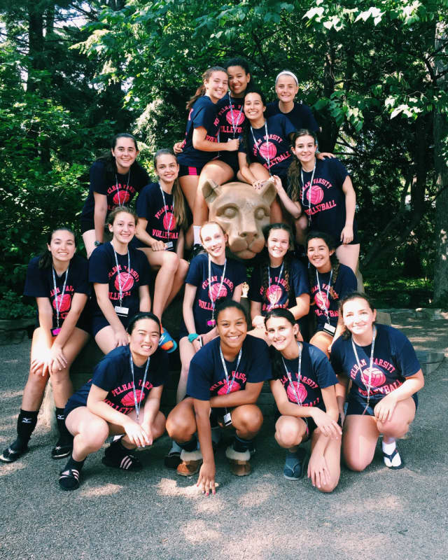 Twenty-nine players and three coaches from Pelham High School attended a recent Penn State volleyball camp.