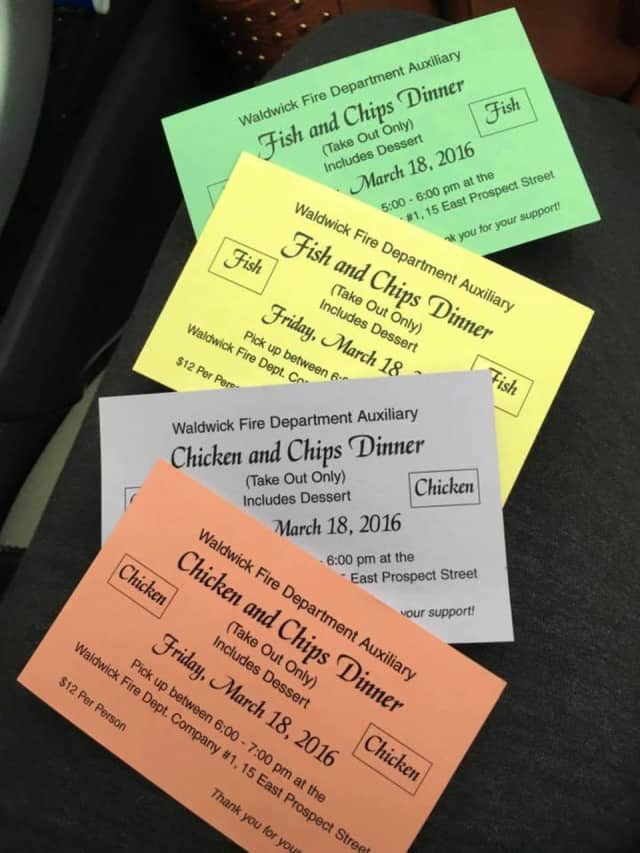 The Waldwick Fire Department Auxiliary Fish/Chicken & Chips Dinner will be held March 18.