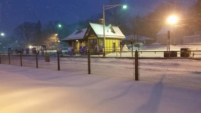 The Waldwick Train Station in the January snow storm.