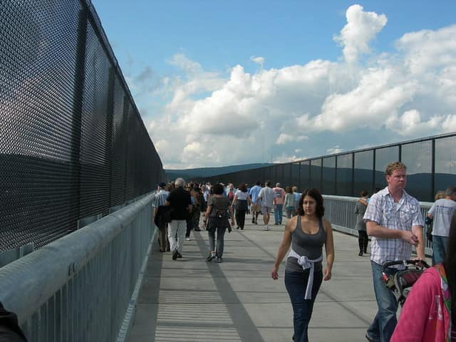 """The popular Walkway Over the Hudson is among seven entities in Dutchess County that have been tapped as """"priority projects"""" and are in the running for state money, according to a report in the Poughkeepsie Journal."""