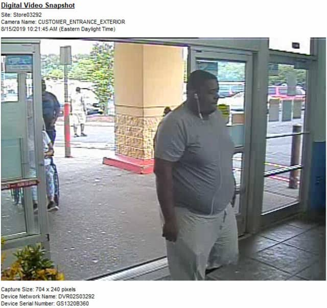 Union police released this photo of a man suspected of shoplifting a toy gun at a Walmart and sparking fears of a shooter Thursday morning.