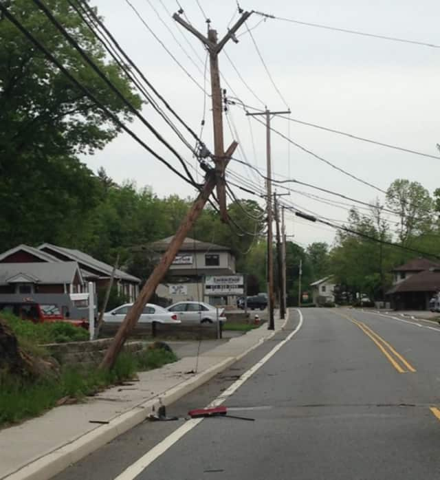 Ringwood Avenue was closed for pole repairs.
