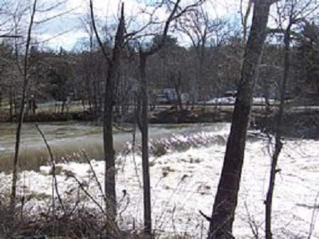 Wappinger Creek, shown at Red Oak Mills at high flow, is expected to breach its banks on Thursday, Feb. 25, due to heavy rains from Wednesday's storms. Minor flooding is expected in Wappingers Falls, the National Weather Service says.