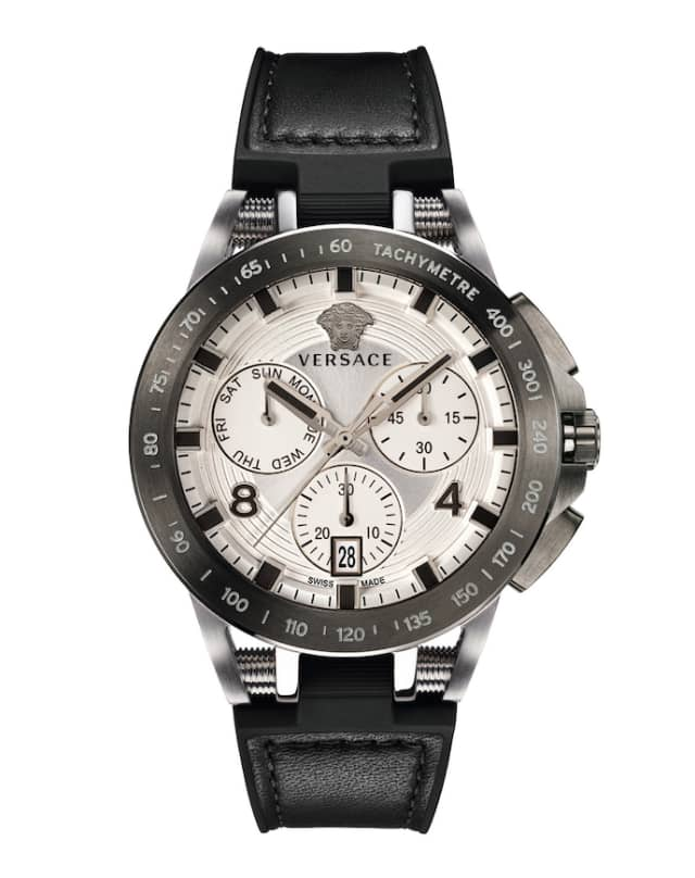 Versace's 45mm Sport Tech Chronograph watch. Courtesy Neiman Marcus.