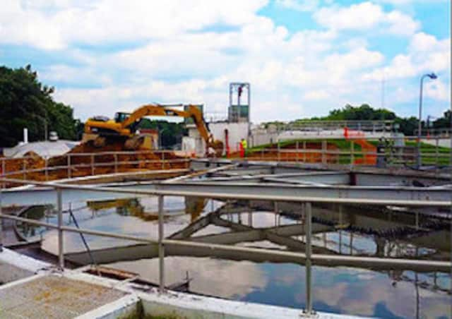 A wastewater treatment plant in New Jersey.