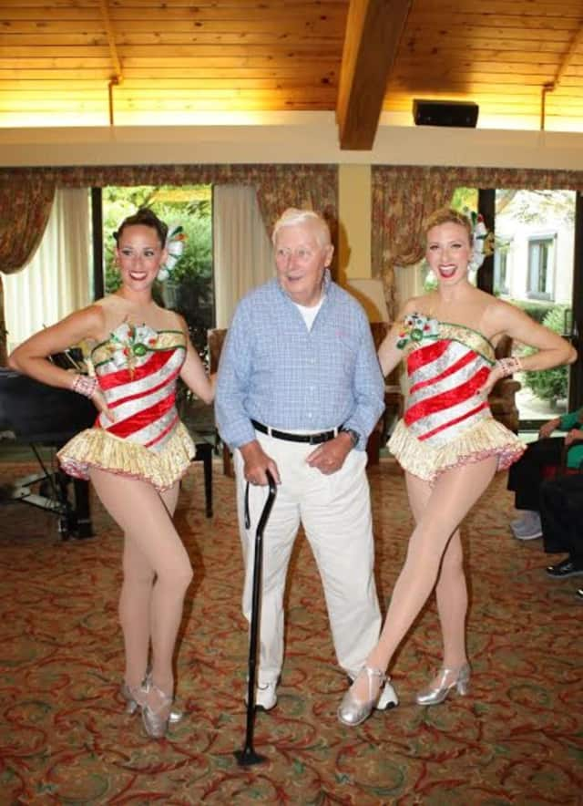 Ron Barlow celebrated his birthday at Waveny LifeCare Network's The Inn with a visit from members of The Rockettes. The Inn is located in New Canaan.