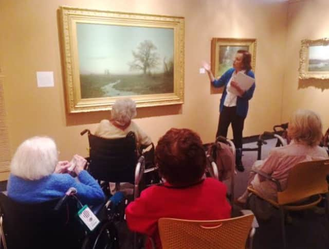 Waveny Care Center residents enjoyed a trip to Bruce Museum in Greenwich, where they saw impressionist landscapes by American painter, Charles Harold Davis.