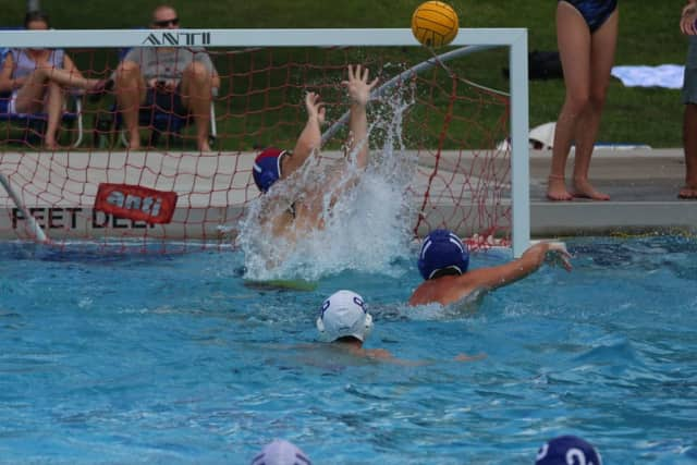 A recent water polo tournament at New Canaan's Waveny Pool.