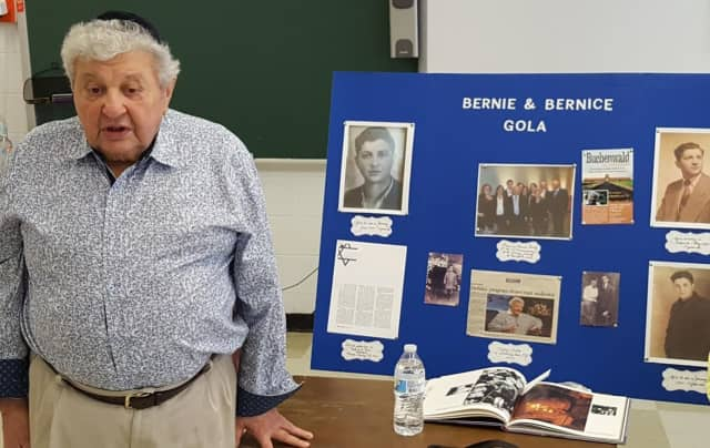Bernie Gola recently told sixth-graders about his experiences, through the Holocaust and beyond.