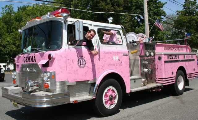 Guardians of the Ribbon Northern New Jersey's pink fire truck will be in Woodcliff Lake Saturday for the Breast Cancer Awareness Fundraiser.