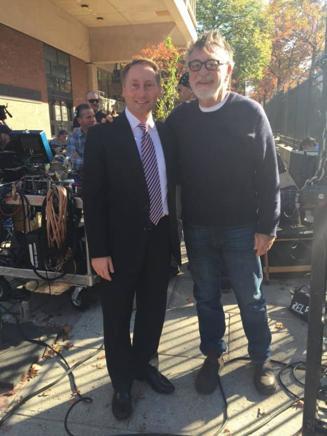 County Executive Rob Astorino with Film Director Ed Bianchi.