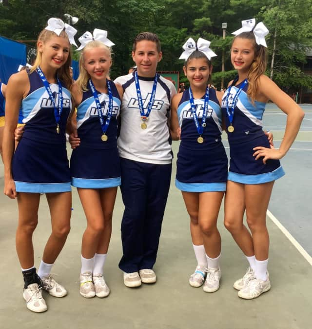 Five Westlake High School cheerleaders have been chosen to participate in the famed New Year's Day parade in London. They are, from left: Victoria Moschetta, Anna Sherman, Dylan Agosto, Samantha Nocerito and Sophia Falkenberg.