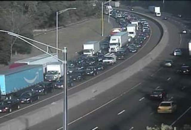 A crash on I-95 southbound in Westport is causing traffic delays Thursday afternoon.